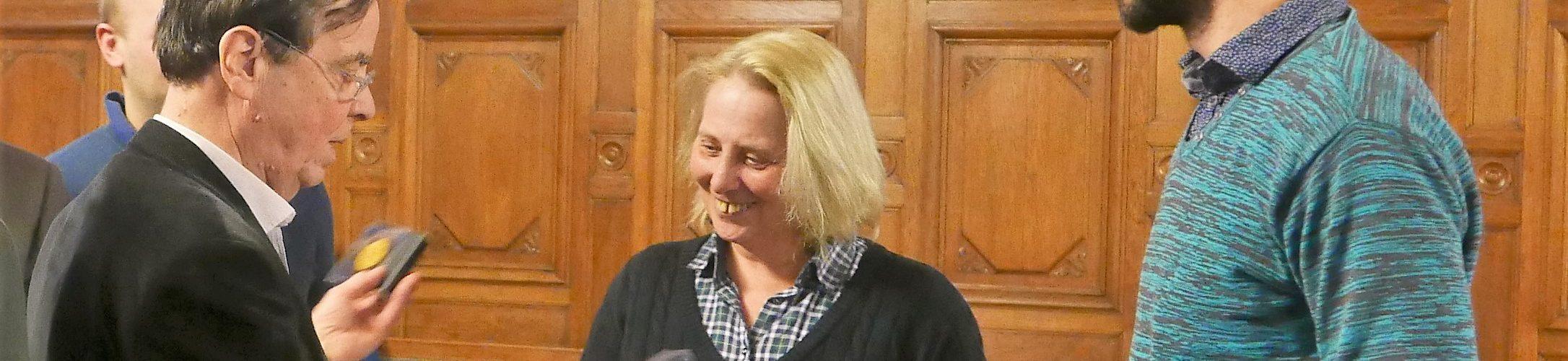 Remise des prix avec Marie-Christine LAPORTE